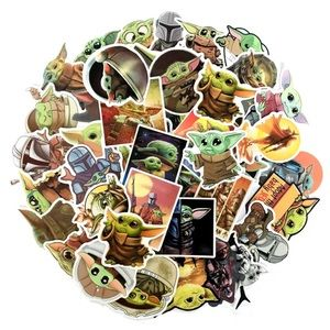 GREAT GIFT BABY YODA STICKERS 50 PACK
